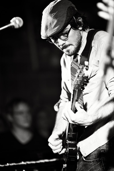 August, 2010<br /> <br /> Guitarist Nolan Burke performs at the Winter Wallace CD Release show.