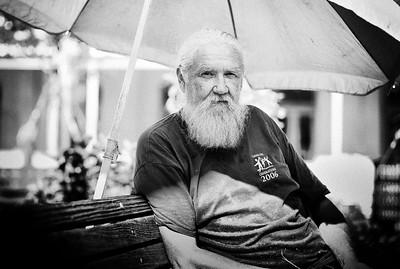 September, 2010  A street vendor in Galveston, TX.