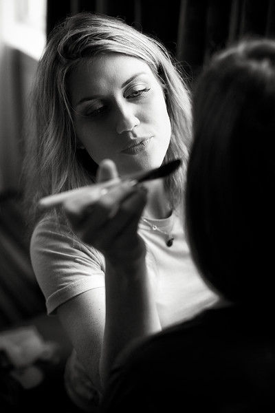 May, 2010<br /> <br /> Final makeup being applied for the wedding.
