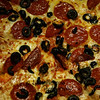 {24/365} January 24<br /> <br /> Dinner.....black olive and pepperoni pizza.