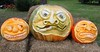 Sept 21 2020 Pumpkins<br /> <br /> Saw these in Cedarburg and thought the carvign was pretty elaborate,