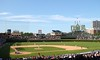 "July 22 2010 Wrigley Field<br /> <br /> We went to a Cubs game yesterday.  The hapless Cubs managed to lose the game in the 12th inning after leaving men on base in the 8th and 9th. <br /> Win or lose it's always fun to take in a game at ""The Friendly Confines"". Wrigley Field was built in 1914 and is the second oldest baseball park.  The Chicago Bears played here as well from 1921 until 1970.  <br /> <br /> During the 1932 World Series at Wrigley Field Babe Ruth is said to have ""called his shot"" by pointing to the stands before hitting a home run.  My Dad was at that game as an Andy Frain usher.<br /> <br /> Update: In response to Jacci's question, my Dad told me he saw Ruth point to the stands and then hit the home run."