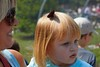 July 30 2010 Live Barrette<br /> <br /> A butterfly landed on Scarlett's head. She wasn't sure what to make of it.