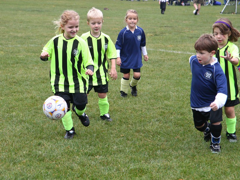September 12 2010 Lindsey's First Soccer Game<br /> <br /> Lindsey who will be 6 next month played in her first game. She gave a good account of herself and seemed to have a lot of fun. Her grandmother and I thought she was the cutest player on the field too.
