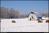 """13Feb10  vaughter's farm under a blanket of snow.  as you can see, the storm front has given way to clear, blue skies.  <a href=""""http://carpelumen.smugmug.com/Photography/2009/February09/7238254_MzkRU/2/474384046_JxY5E/Medium"""">one year ago.</a>  f/8, 1/1250s, iso 200."""