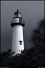 monochrome: lighthouse, st simons island, georgia.