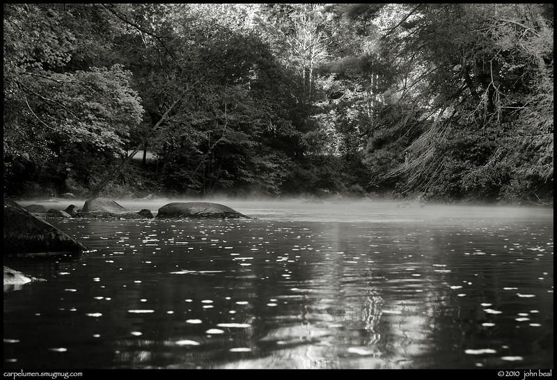 monochrome: toccoa river, north georgia.