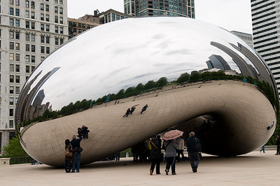 The Cloud Gate (AK Bean) on a cloudy May day.