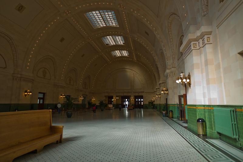 Back inside the Union Station testing color.