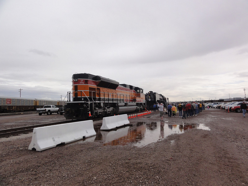 Visiting the Union Pacific railyard in Phoenix to see the last steam locomotive delivered to UP.