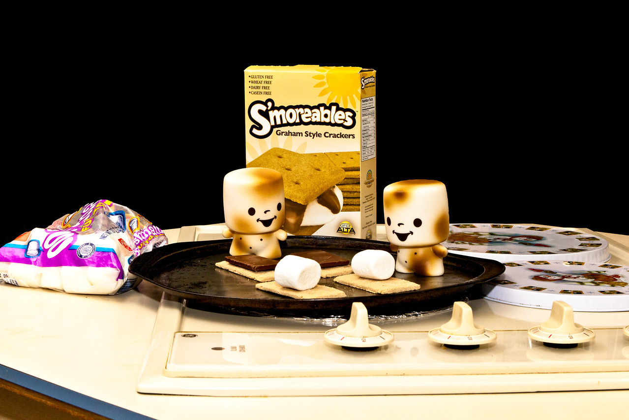 August 6, 2011-S'more fun with the twins; Marshall and Marco are creating s'more treats for us. (218:365) Thanks for all the comments and well wishes the past few days. You all are terrific!