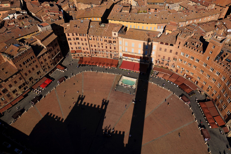 Tower with a View<br /> <br /> Piazza del Campo from 88m high tower - Torre del Mangia in Siena, Italy<br /> <br /> 12/14/2011