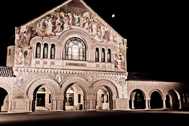 Stanford church in the middle of the night<br /> <br /> March 31, 2011