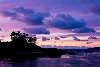 Sunset over Point Lobos, CA  March 30, 2011