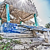 Abandoned beach house destroyed by hurricane, Cozumel Mexico<br /> <br /> April 2, 2011