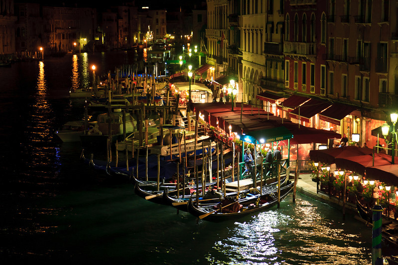 Thanks for all your comments on the yesterday photo (Venetian Mirror)<br /> Today picture is also from our Italy trip.<br /> <br /> Night life in Venice<br /> <br /> November 11, 2011