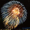 FIREWORKS! Taken from the tower of The Travelers Ins. building in Hartford, CT. (several years ago) (35mm film 1980 approx)