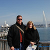 Lisa and Keith in front of the Geneva Water Jet