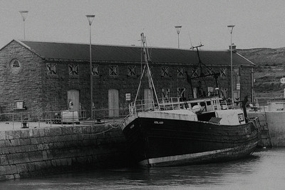27 Aug: Fishing boat in Killeany, on the Aran Islands.