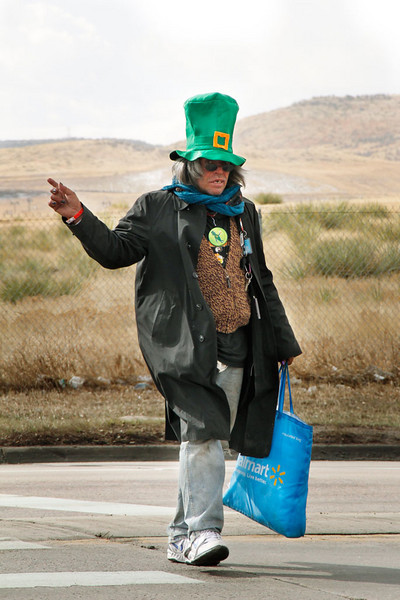 3/13/11: Saw this Leprechaun on the way to our new house. Handed the camera a camera (EOS Rebel T3i) and she made this photograph.