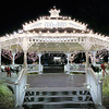 11/28/11: The same gazebo shot at night and 26 degrees F giving the J1 some inadvertent cold weather testing. I used the J1's third Auto ISO setting that gave me a range of 100-3200 and the camera selected ISO 800 but that, I felt, created a one-stop underexposed images so I used the convenient Exposure Compensation control to add a plus one stop creating an exposure of 1/20 sec at f/2.8. Noise? At ISO 800, there was none.
