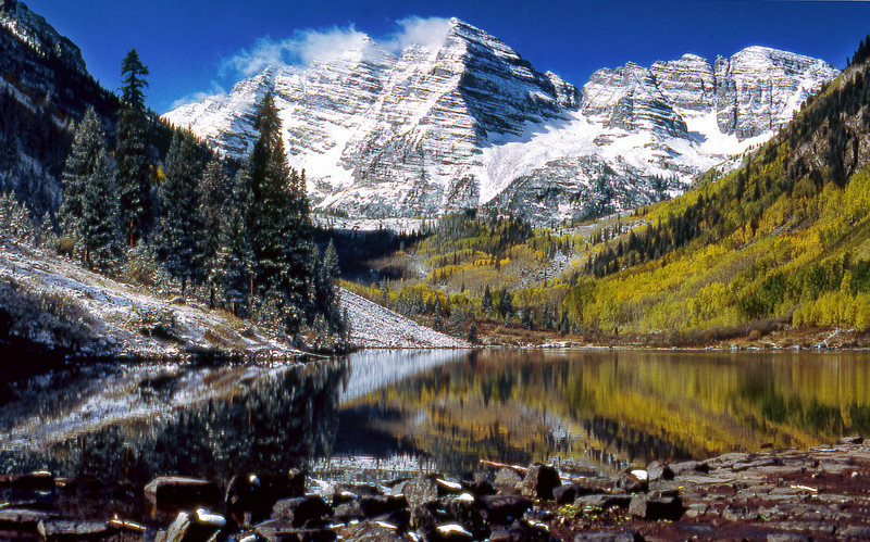 4/8/11: The THIRD in my Colorado Scenes Series: Maroon Bells near Aspen