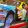 Celebrating the Daytona 500, 2/20/11. Joe with Kyle's car--he didn't win.