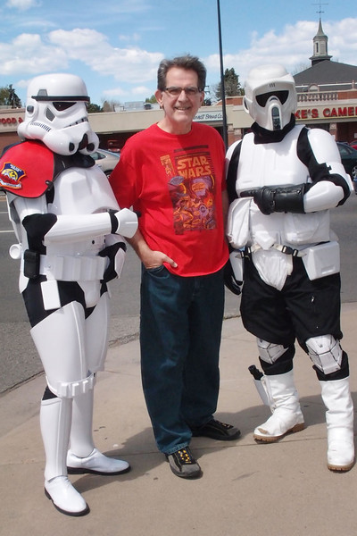 5/7/11: Free Comic Book Day; Joe with Stormtroopers