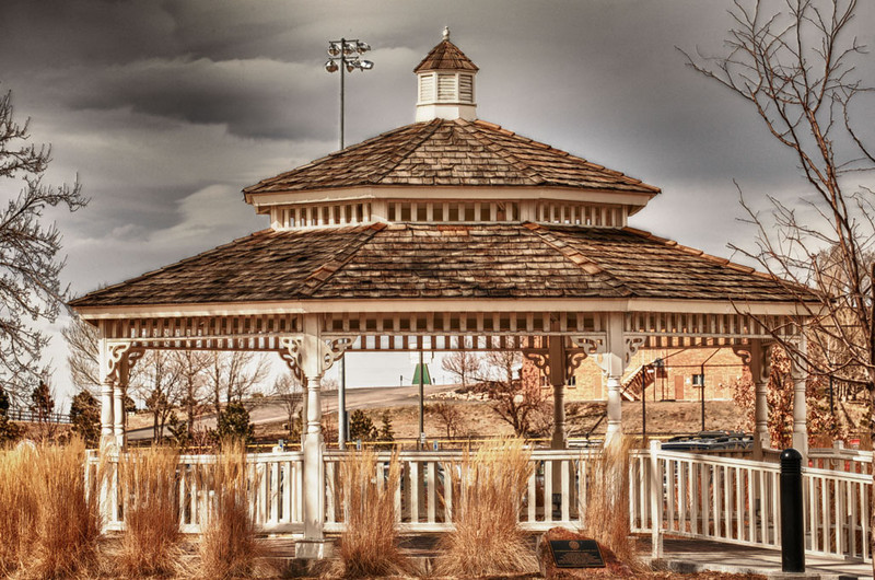 3/5/11: Visit to Parker, CO today. HDR image of gazebo in O'Brien Memorial Park.