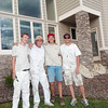 7/16/11: Painters after a hard day's work painting our new home. © Mary Farace