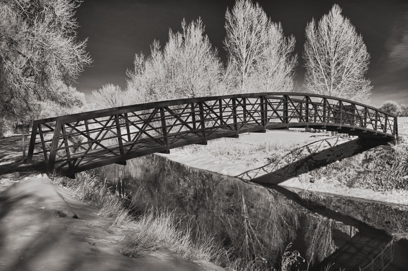 Barr Lake bridge, 1/31/11 before more snow and cold came.