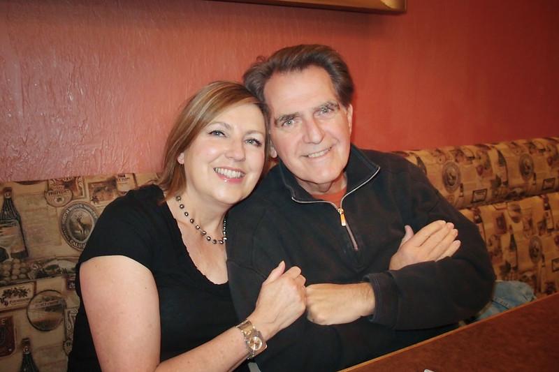 5/21/11: Mary & Joe at Joe's surprise birthday dinner. Photo by Paul Peregrine.