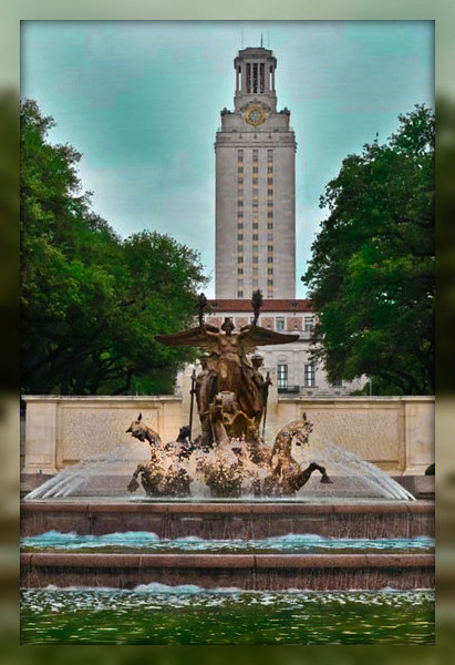 A beautiful Memorial to the University of Texas students and alumni who died in the Great War.