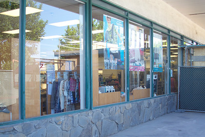 Existing store front glazing. Metal frame single pane.