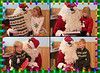 December 13 2011 Santa is a busy guy<br /> <br /> I couldn't show Scarlett and Santa (yesterday's post) without showing the other kids. Lindsey and Scarlett in the top row. Braden and Kyle in the bottom row.<br /> <br /> The guy who does this every year for us is just the husband of one of my sister-in-law's friends.  He just loves doing this and he is so good with the kids.