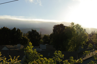 Looking towards Santa Cruz mountains from our deck