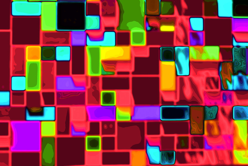 Neon Blocks (3/9/2012)<br /> For Billie's abstract challenge I took a picture of a very colorful downtown wall and processed it with color effect's pro<br /> Have a great Friday,<br /> -Bob
