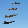 Four Generations of Warplanes (11/1/2012)<br /> This is, of course, another shot from the Wings over Houston airshow.  <br /> Hope you had a great Halloween!<br /> -Bob