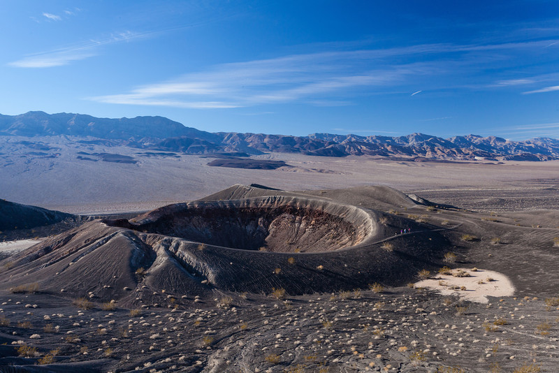 12/20/2012<br /> <br /> Little Hebe Crater, Death Valley<br /> You can see a group of people on the right walking around the volcano rim.