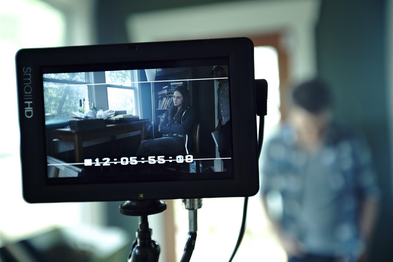 "On the set of the short film ""Karis""."