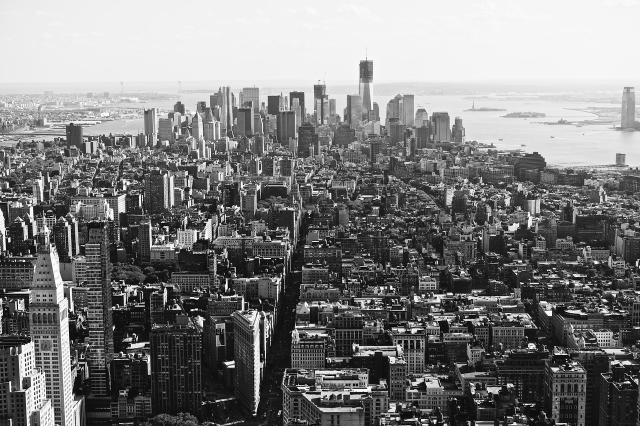Aerial shot from the top of The Empire State Buidling.
