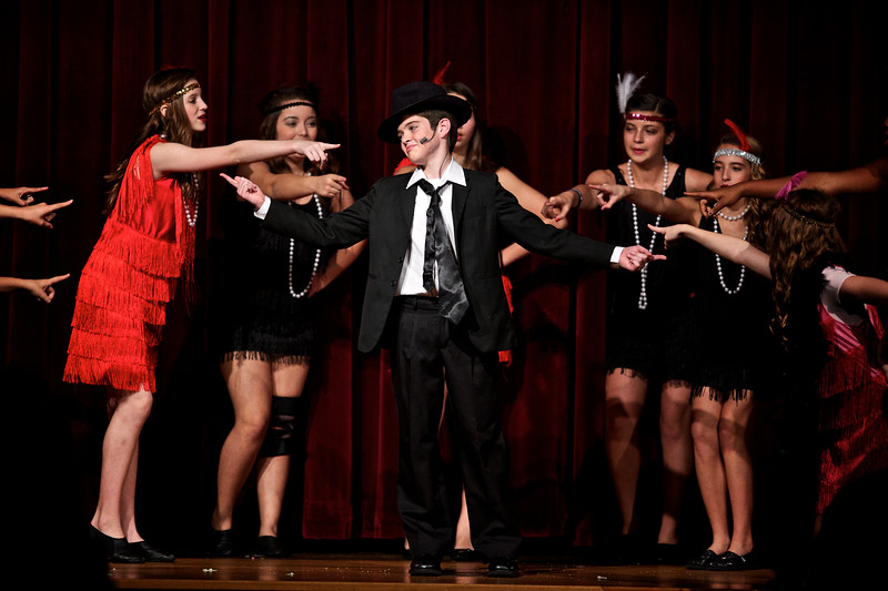 """Micah starring in the lead role of """"Bugsy Malone"""". :)"""