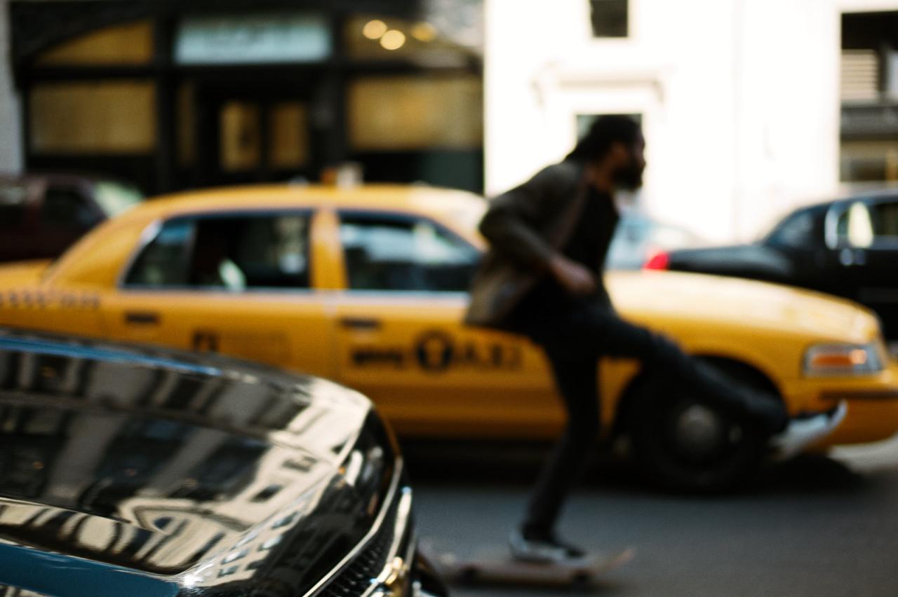 In motion… car | skater | cab