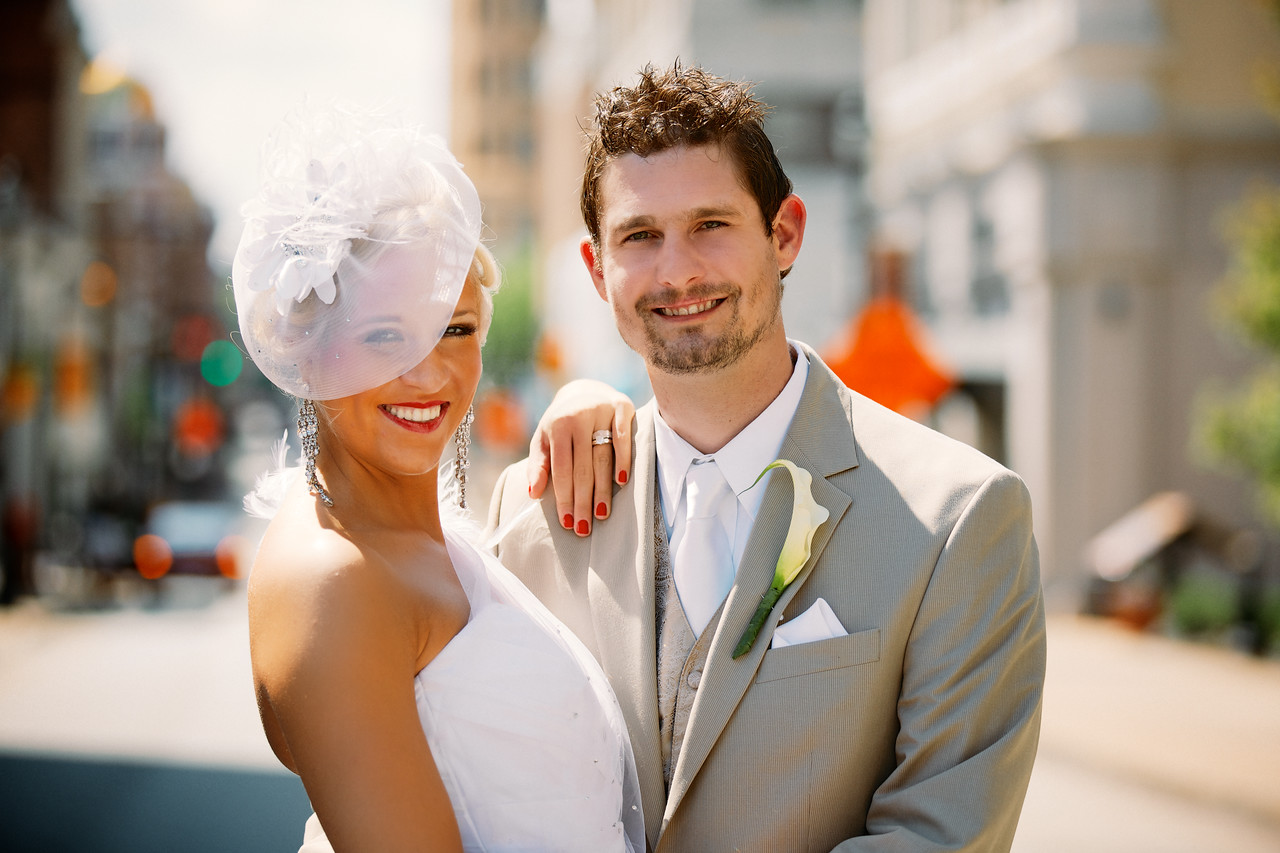 Michael and Emily Kilgore in downtown Uniontown, PA.