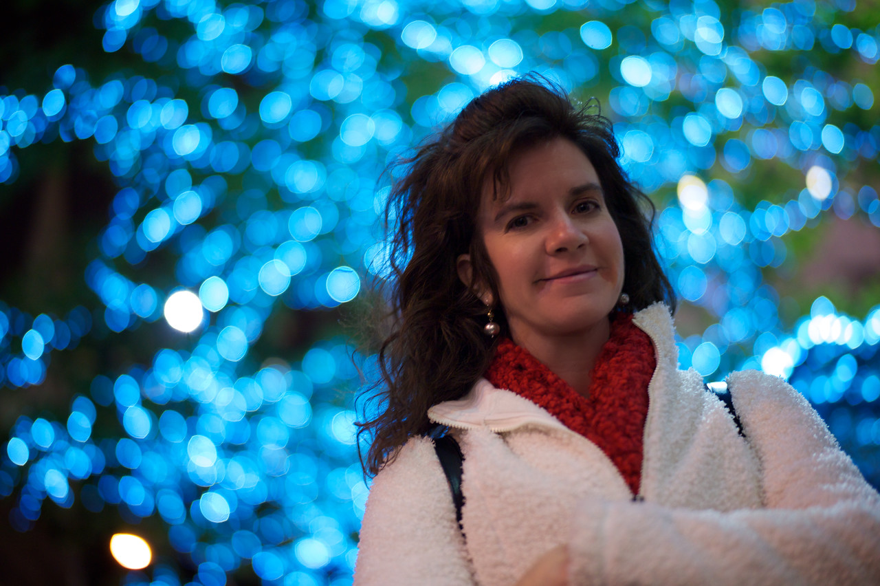 Quick shot of my beautiful bride at Rockefeller Center as we celebrate our 20th Anniversary in New York City.