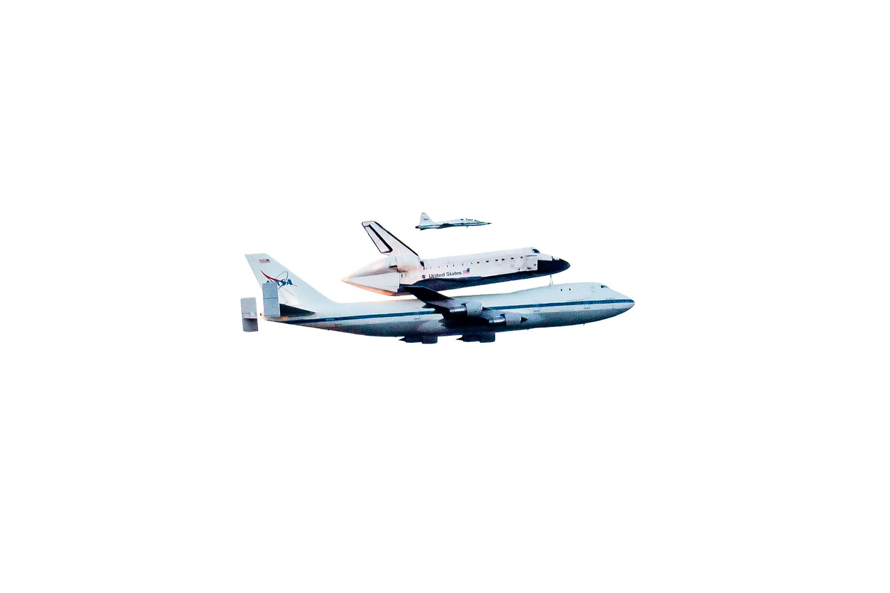 A once in a lifetime sighting… <br /> The Space Shuttle Endeavour flies over our house on it's final flight to it's last stop in CA.