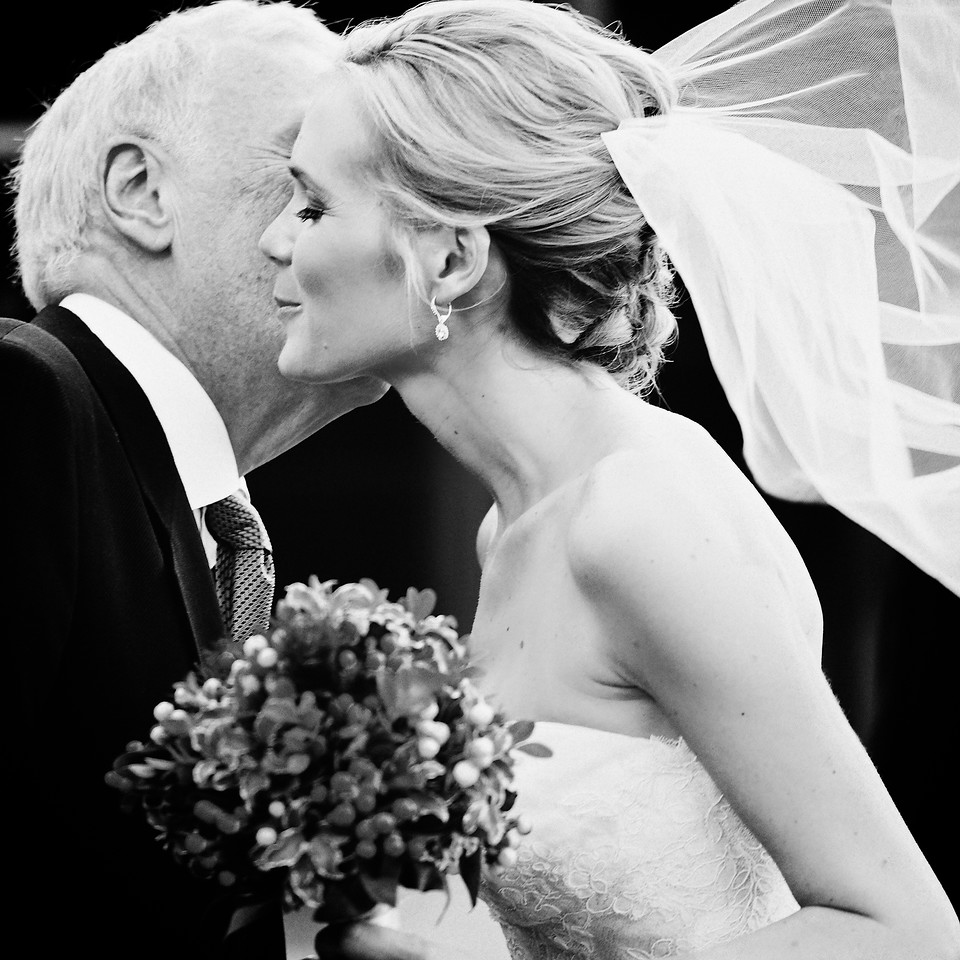 Wedding Day. <br /> A bride greets her Dad on her big day. (shot for MD Turner)