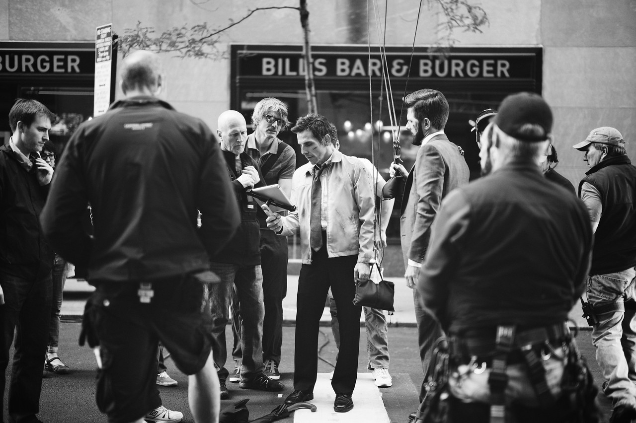 Actor Ben Stiller filming a scene outside our hotel near Rockefeller Center.