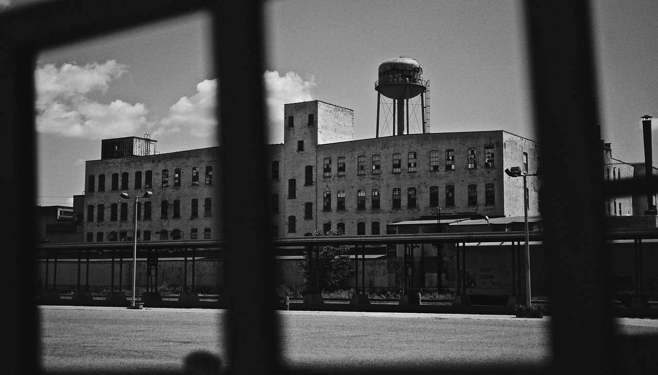 Remnants from another time. Old buildings near an Amtrak station in St Paul, MN.
