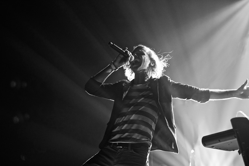 Luminate singer Samuel Hancock during a performance at Reliant Arena in Houston.